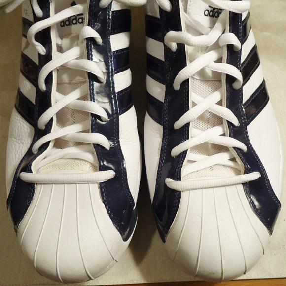 Adidas Men\u0027s Size 14.5 Navy Blue \u0026 White Shoes